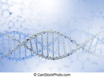DNA strand illustration - Image of DNA strand against colour...