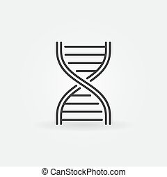 DNA strand vector outline icon