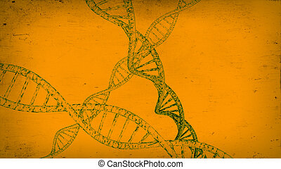 DNA Strands - 3D DNA strand with vibrant colors for genetics...