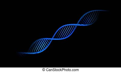 Dna strands are assembled from individual elements. Black...