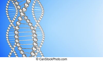 DNA Strands background. Loopable.