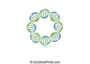 DNA strands logo