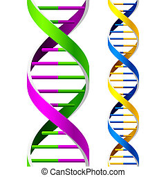 Vector illustration of a seamless DNA strands