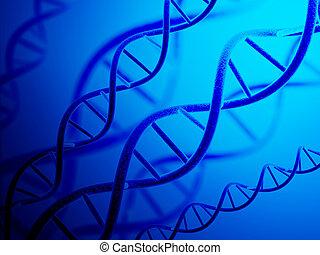 DNA structure - Digital 3d model of DNA structure