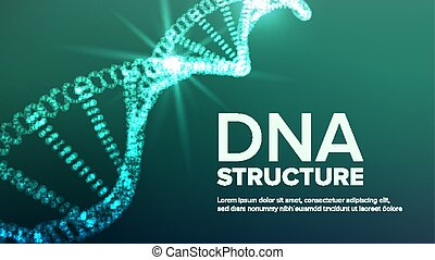 Dna Structure Vector. Abstract Helix. Genetic Molecule. Futuristic Code. Illustration