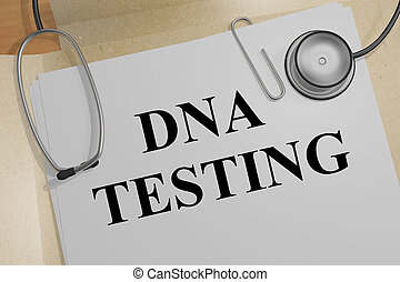 DNA TESTING concept