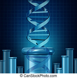 DNA Testing - DNA testing and genetic research concept as a...