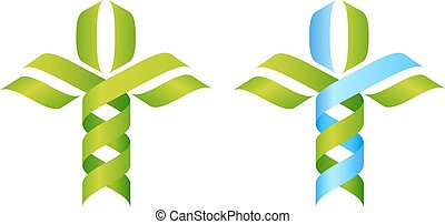 DNA Tree Concept - DNA Tree symbol, a DNA double helix...