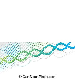 dna - Blue and green spiral background