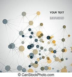 dna, verbinding, vector, eps10, netwerk