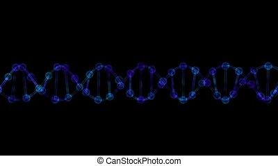 DNA on a black background