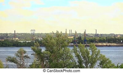 Dnepr Metallurgical Plant - Smog from power plant near the ...