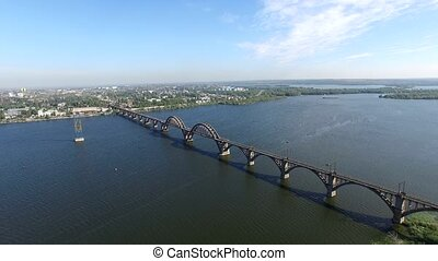 Dnepr River. Aerial Survey