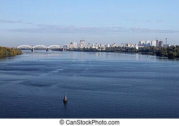 Dnieper river in Kiev