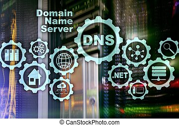 DNS. Domain Name System. Network Web Communication. Internet and digital technology concept.