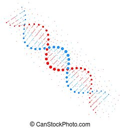 dns, kette, abstrakt, freigestellt, abbildung, hintergrund., vektor, biotechnologie, weißes, concept., struktur