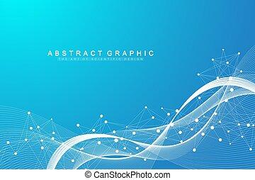 dns, -, stranden, banner., visualization., molekül, daten, ...