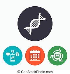 dns, symbol., zeichen, deoxyribonucleic, icon., säure