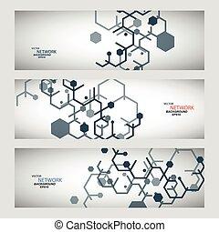 dns, vernetzung, farbe, anschluss, vektor, atom