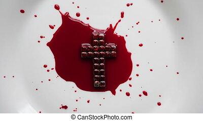 do góry, krew, krzyż, jezus, zamknięcie
