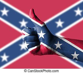 do góry, ręka, stany, kciuki, sprzymierzać się, ameryka