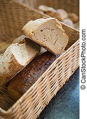 do góry szczelnie, chlebowy kosz