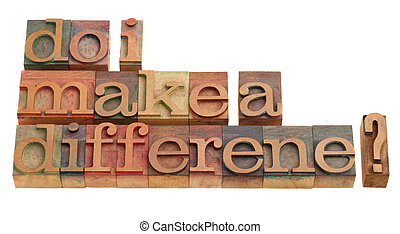 Do I make a difference? A question in vintage wooden...
