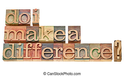 Do I make a difference? A question in vintage wooden ...
