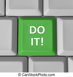 Do It Green Computer Keyboard Key Encouragement Words