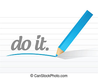 do it message illustration design