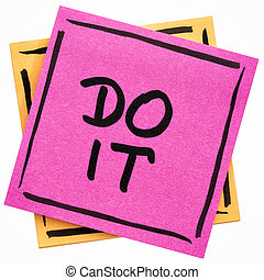 Do it motivational reminder note