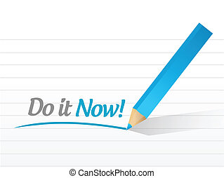 do it now message illustration design