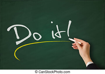 Do it sketched on a chalkboard