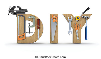 Diy stores represents do it yourself 3d illustration diy stock do it yourself concept solutioingenieria Images