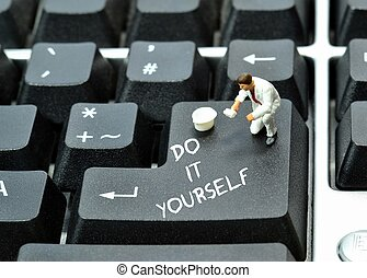 Do it yourself on keyboard return enter key button