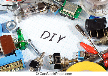 do it yourself radio electronic parts on graph paper