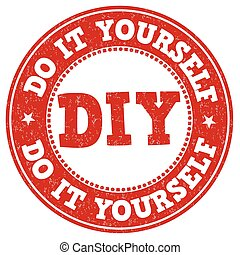 Do it yourself stamp - Do it yourself grunge rubber stamp on...
