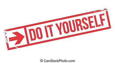 Vector clip art of do it yourself stamp do it yourself grunge do it yourself stamp solutioingenieria Images