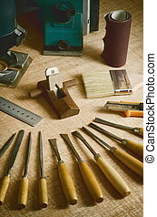 Do it yourself woodworking / carpenter tools in still life