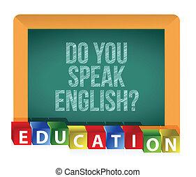 """do, lei, english?"", parlare"