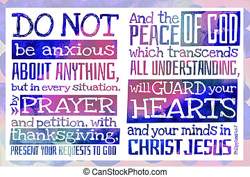 Do not be anxious about anything (Philippians 4:6-7) - ...