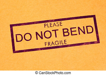 Do Not Bend Shipping Stamp