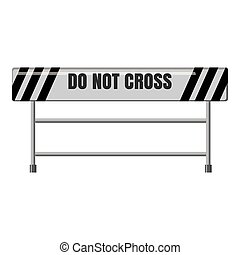 Do not cross traffic barrier icon