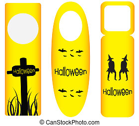 do not disturb door hanger with halloween design
