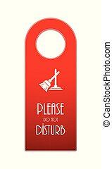 do not disturb door knob