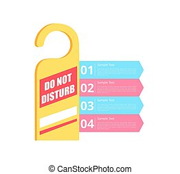 Do Not Disturb Hotel Sign Vector Illustration - Do not...
