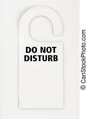 Do not disturb label