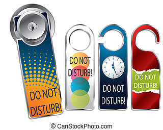 Do not disturb labels - Do not disturb label set of four