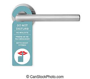 Do not disturb on door handle
