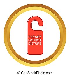 Do not disturb red sign vector icon
